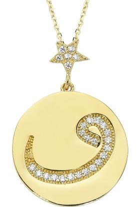Altınsepeti Altın Yıldızlı Plaka Vav Kolye As988Kl