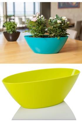 Mini Garden Kayık Arajman Saksı 3,25 LT Yeşil