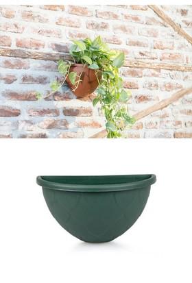 Mini Garden Mini Garden Damla Duvar Saksı 1,4 LT Yeşil