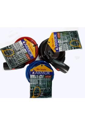 Armor Anahtarlı 120cm x 8mm Kablo Bisiklet Kilidi