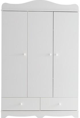Belis 5455 Nova 3 Kapılı Dolap Beyaz