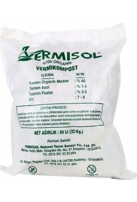 Vermisol VSD20 % 100 Organik Katı Solucan Gübresi 20 kg
