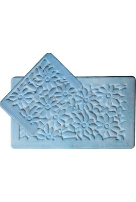 Giz Home Samos Klozet Takımı 60X100 Mavi Papatya