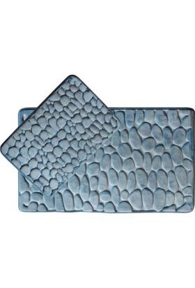 Giz Home Samos Klozet Takımı 60X100 2Li Koyu Mavi Taş