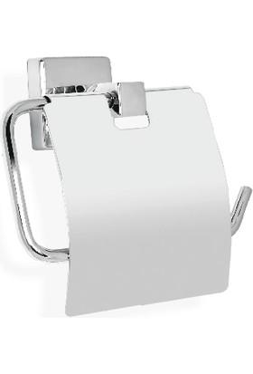 Çelik Banyo Tomara Kağıtlık Kapaklı