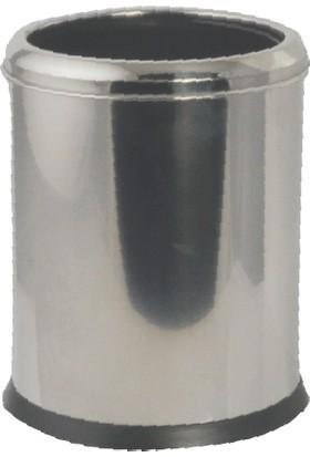 Çelik Banyo Acık Çöp Kovası 12 Lt 304 Kalite