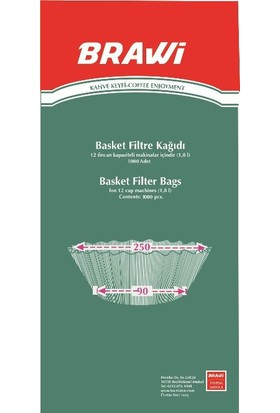 Caffeo Filtre Kağıdı 90/250 Basket 1000 adet