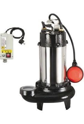Sumak Parçalayıcı Bıçaklı Foseptik Dalgıç Pompa-Sbrm18/2-P 10 Mt. Kablolu Ve Panolu