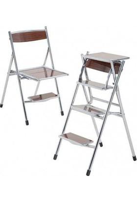 Netavantaj Cevahir Merdivenli Sandalye Ceviz Renk