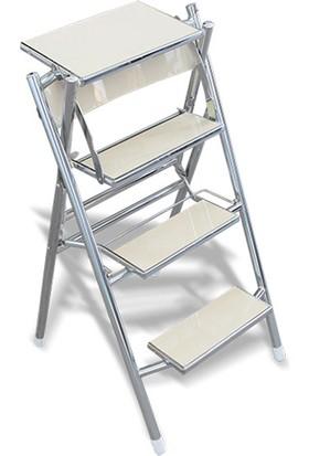 Netavantaj Cevahir Merdivenli Sandalye Beyaz Renk