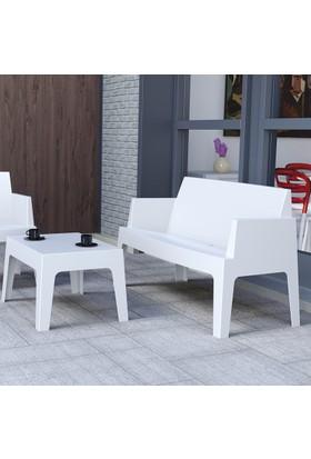 Siesta Contract Box Large Koltuk Seti - Gümüş - Balkon Bahçe Mobilyası