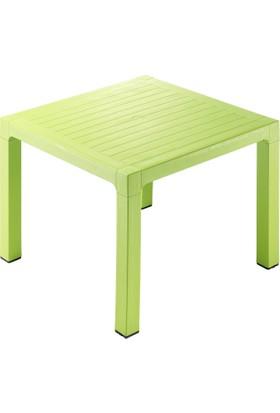 Novussi Contract Wood 90 90 Cm Kare Masa - Açık Yeşil