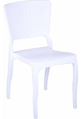 Tilia Antro Rattan Sandalye - Beyaz