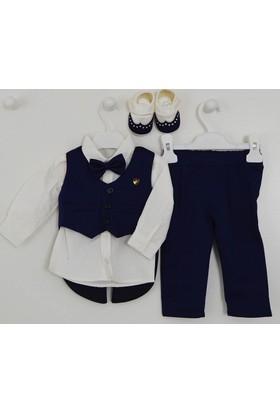 Pugi Baby 2031 Klasik Yaka Erkek Bebek Mevlüt Takımı