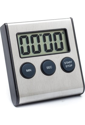 Elektronik Paslanmaz Mutfak Saati Zamanlayıcı Thr162
