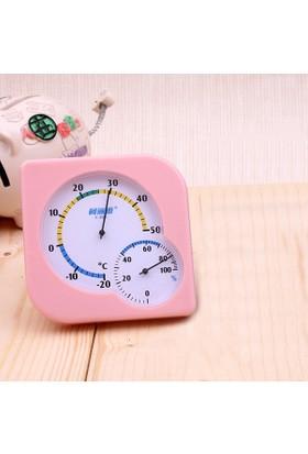 Pembe Manuel Termometre Ve Nem Ölçer - Higrometre Thr171