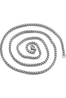 Chavin Gri 75 Cm. 4 Mm. Erkek Çelik Zincir Dh02