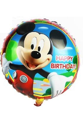 Mickey Mouse 45 Cm. Happy Birthday Folyo Balon Cin66