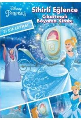 Disney Prenses Çıkartmalı Boyama Kitabı: Sihirli Eğlence