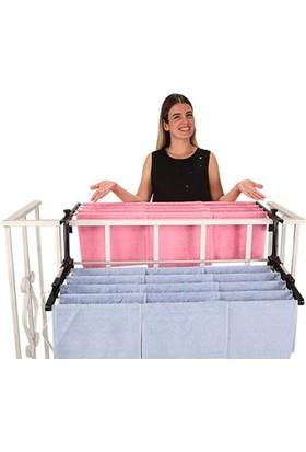 Biricik Çift Taraflı Alüminyum Balkon Çamaşır Kurutmalık 90Cm Genişlik