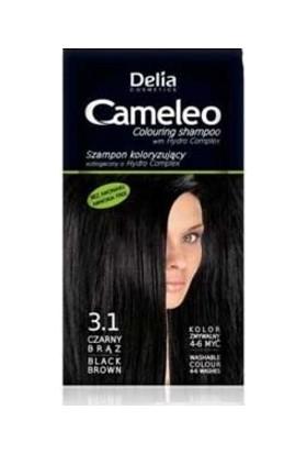 Delia Camelia Saç Renklendirici Şampuan Tek Kullanımlık 3.1 Black Brown 40 ml