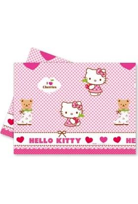 Kikajoy Hello Kitty Hearts Plastik Masa Örtüsü