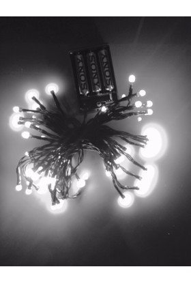 Kikajoy Pilli Led Işık Beyaz Renk 6 mt - 1 adet