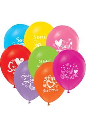 Kikajoy Seni Seviyorum Baskılı Balon