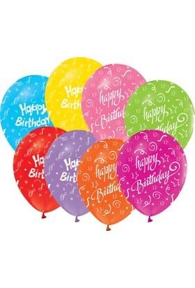 Kikajoy Çepeçevre Happy Birthday Baskılı Balon