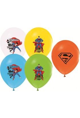 Kikajoy Çift Taraflı Superman Baskılı Balon