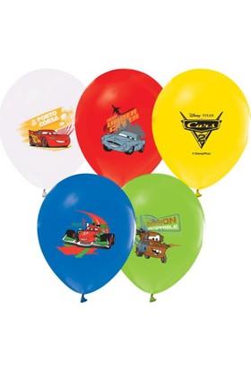 Kikajoy Çift Taraflı Cars Baskılı Balon
