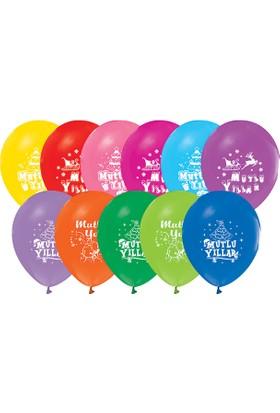 Kikajoy Yeni Yıl&Mutlu Yıllar Baskılı Balon - 100 adet