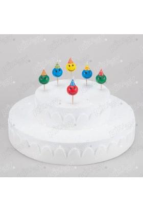 Kikajoy Gülen Yüzler Smile Renkli Doğum Günü Mumları