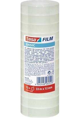 Tesa Basıc Film Şeffaf 12' li Paket 33m 12mm