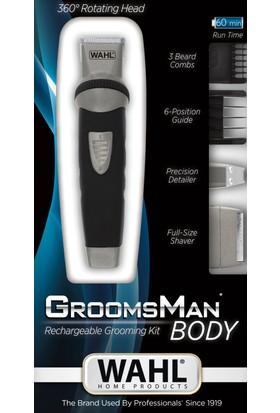 Wahl Groomsman Body Saç, Sakal, Bıyık Düzeltme ve Şekil Verme Makinesi 3'ü 1 arada - Şarjlı