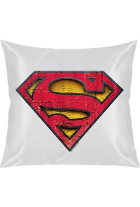 Buldumbuldum Superman - Kare Yastık 40x40cm