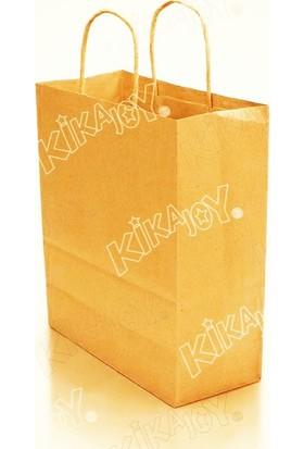 Kikajoy 25x31 Büküm Saplı Kağıt Poşet - Altın