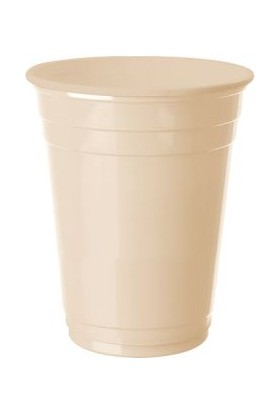 Kikajoy Plastik Meşrubat Bardağı Krem