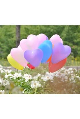 Kikajoy Kalp Şekilli Karışık Latex Balon