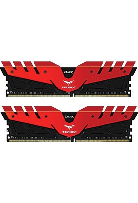 Team 8GB (2x4GB) 2666MHz DDR4 Overclocking Dark T-Force Gaming Soğutuculu Dual- Channel Ram Kit - 1.2V (TM4D266642RD)