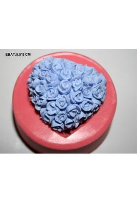 Pasta Mağaza Minik Güller Kalp Silikon,Mum,Kokulu Taş Kalıbı