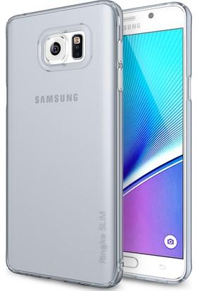 Ringke Slim Frost Galaxy NOTE 5 Kılıf Gray - 4 Tarafı Saran Tam Koruma İnce Buzlu Şeffaf