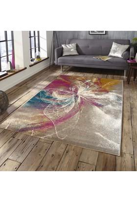Saray Halı Ela 724 Renkli Modern Kelebekli 150 x 230 cm