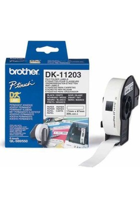 Brother P-Touch Dosyalama Etiketi 17Mm X 87Mm Dk11203