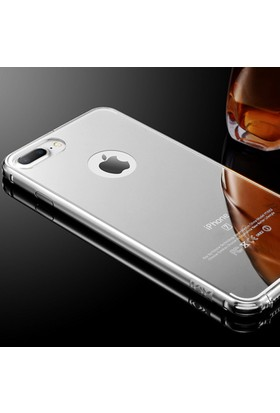 Gpack Apple iPhone 7 Plus Kılıf Aynalı Metal Bumper