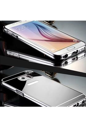Gpack Samsung Galaxy A7 2016 Kılıf Aynalı Metal Bumper + Cam