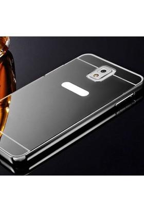 Gpack Samsung Galaxy Note 4 Kılıf Aynalı Metal Bumper + Cam