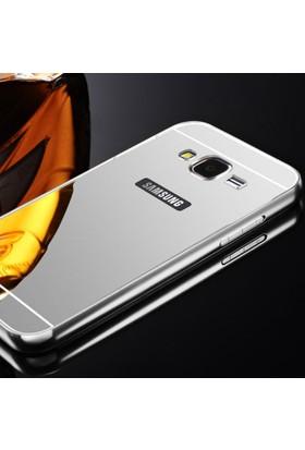 Gpack Samsung Galaxy Grand Neo Kılıf Aynalı Metal Bumper + Cam