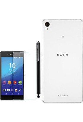 Gpack Sony Xperia Xa Kılıf 02Mm İnce Silikon +Kalem+ Cam