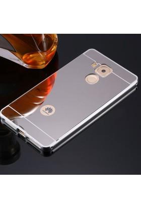 Gpack Huawei Mate 8 Kılıf Aynalı Metal Bumper + Cam